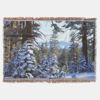 Snow-covered Red Fir trees in the High Sierra 2 Throw Blanket