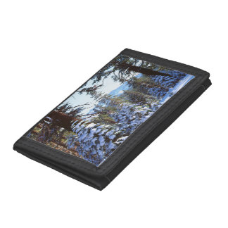 Snow-covered Red Fir trees in the High Sierra 2 Tri-fold Wallet