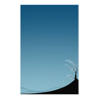 Snow-Covered Season Landscape - Stationery