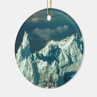 Snow Covered Swiss Alps Ornaments