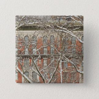Snow Covered Tree 15 Cm Square Badge