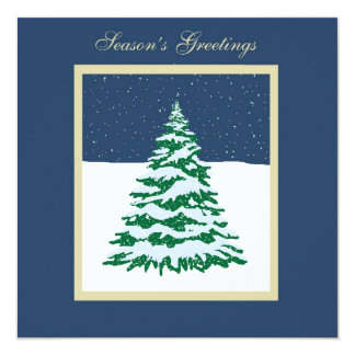 Snow Covered Tree 13 Cm X 13 Cm Square Invitation Card