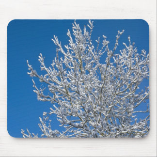 Snow Covered Tree Mouse Pad