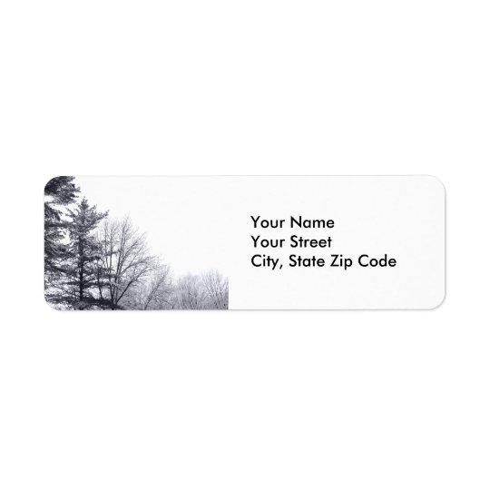 Snow-covered Trees: Horizontal address label