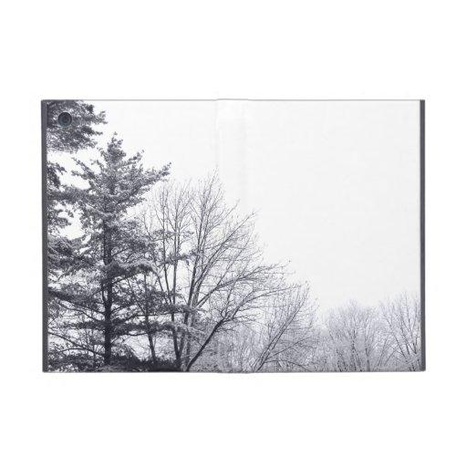 Snow-covered Trees: Horizontal Case For iPad Mini