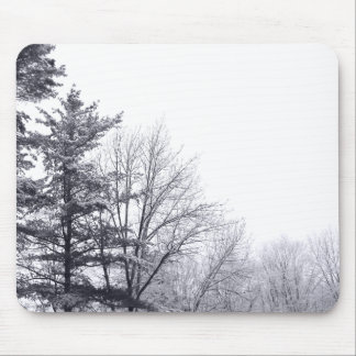 Snow-covered Trees: Horizontal Mouse Pad
