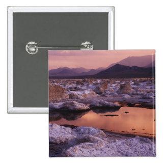 Snow-covered tufas 15 cm square badge