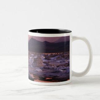 Snow-covered tufas Two-Tone coffee mug