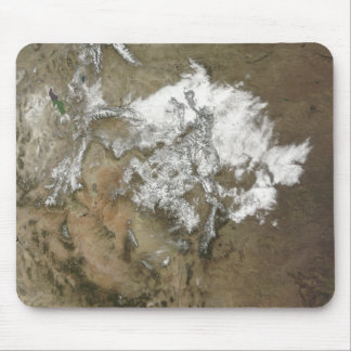 Snow covers the Rocky Mountains in United State Mouse Mat