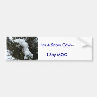 Snow Cow--I Bumper Sticker