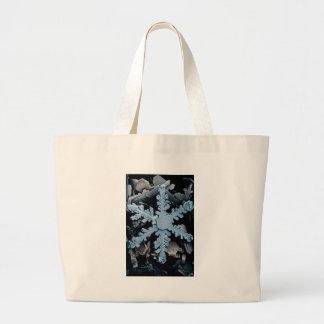 Snow Crystal 2 Large Tote Bag