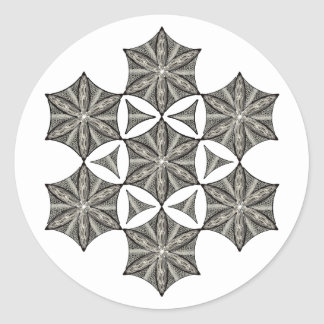 Snow Crystal Classic Round Sticker