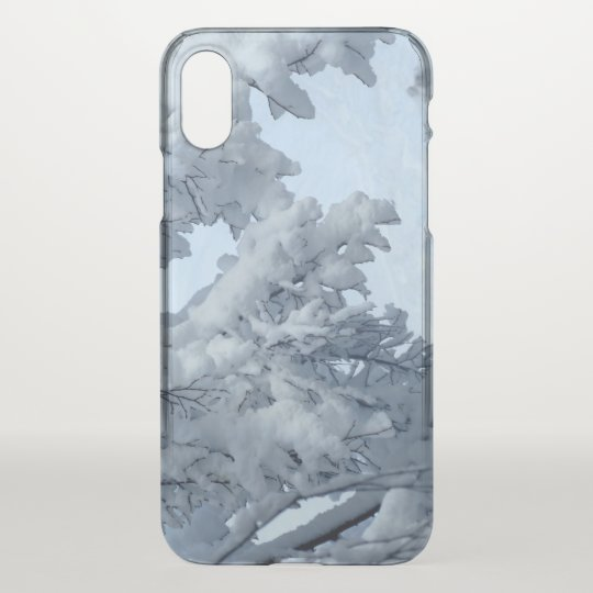 Snow Custom iPhone X Clearly™ Deflector Case