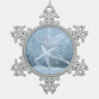 Snow Dancer Pewter Snowflake Decoration
