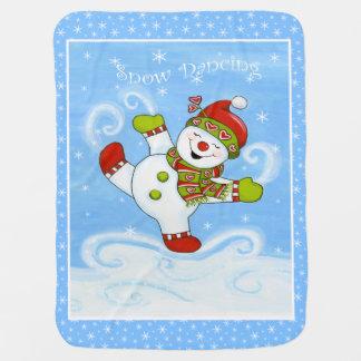 Snow Dancing Baby Blankets