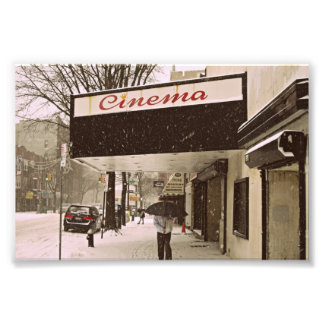 Snow Day At The Cinema Photo Print