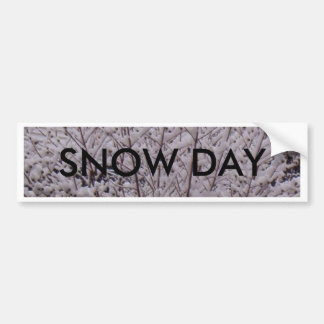Snow Day Bumper Sticker