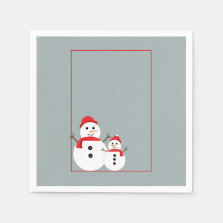 Snow Day Christmas Party Paper Napkins