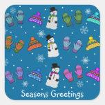 Snow Day Seasons Greetings Stickers