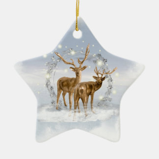 Snow Deer Christmas Ornament