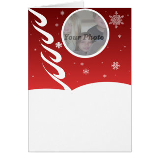 Snow delight Photocard Greeting Card
