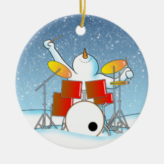 Snow Din Christmas Ornament
