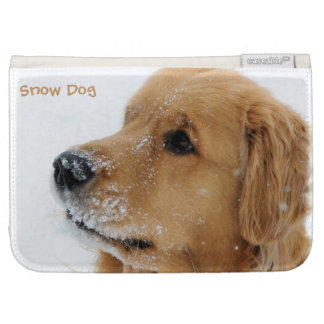 Snow Dog Golden Retriever Kindle Cover