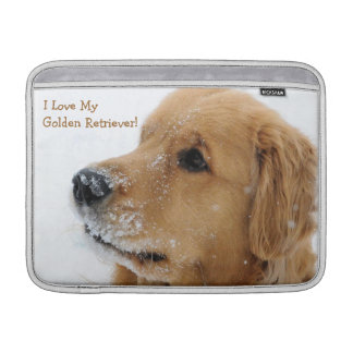 Snow Dog Golden Retriever MacBook Air Sleeve