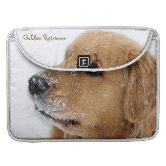 Snow Dog Golden Retriever MacBook Pro Sleeve