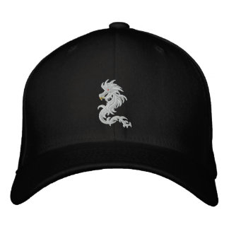 Snow dragon embroidered cap