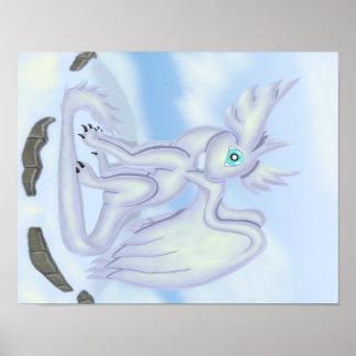 Snow Dragon Poster