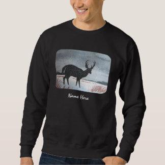 Snow Dusted Deer Painting Sweatshirt