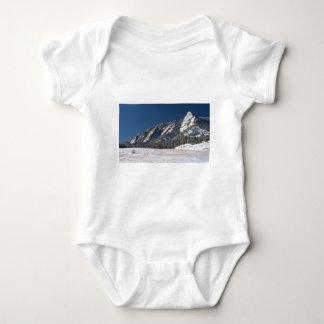 Snow Dusted Flatirons Boulder Colorado Panorama Baby Bodysuit