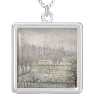 Snow Effect at Eragny, 1894 Silver Plated Necklace