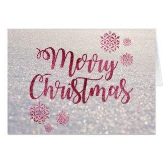Snow effect Merry Christmas card
