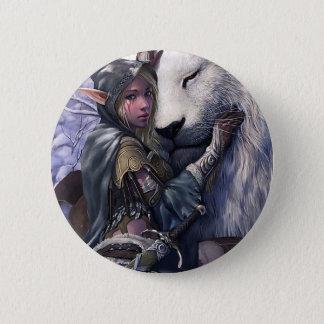 Snow+Elf+Girl+with+Lion 6 Cm Round Badge