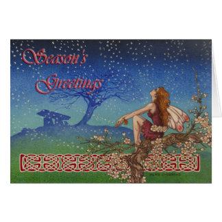 Snow Fairy Celtic Irish Christmas Card