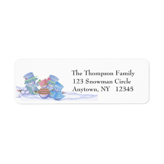Snow Family Address Label