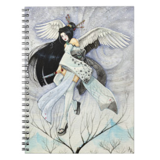 Snow & Feathers Geisha Samurai Art, Custom Noteboo Notebooks
