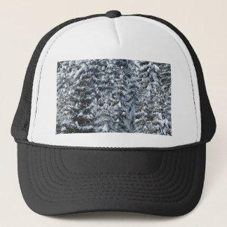 Snow Fir Tree Texture Trucker Hat