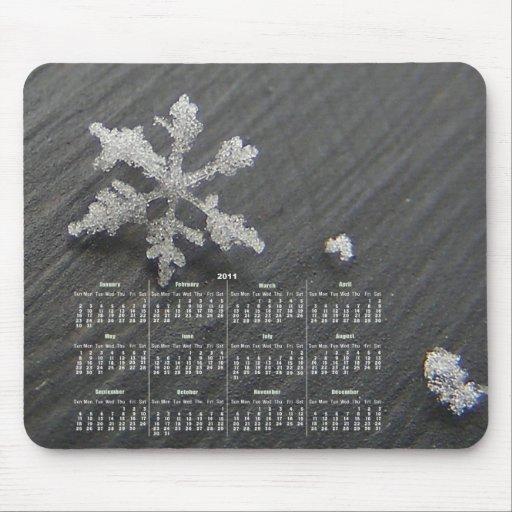 Snow Flake Calendar ~ mousepad