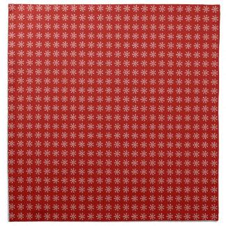 Snow Flake Red Christmas Pattern Napkin