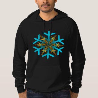 Snow Flakes Fleece Pullover Hoodie