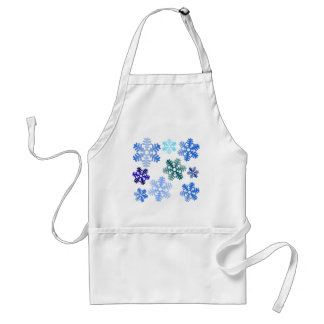 Snow Flakes Pattern Shades Design Standard Apron