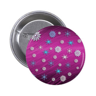 Snow Flakes Standard, 2¼ Inch Round Button