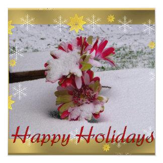 Snow Flowers 13 Cm X 13 Cm Square Invitation Card