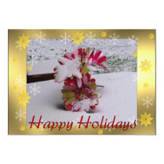 Snow Flowers 13 Cm X 18 Cm Invitation Card