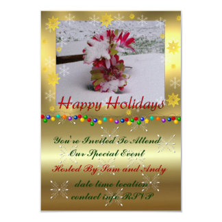 Snow Flowers 9 Cm X 13 Cm Invitation Card