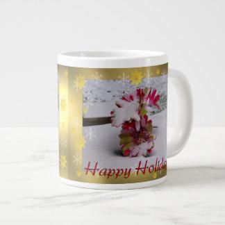 Snow Flowers Extra Large Mugs