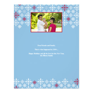 Snow Flurries Family Holiday Letter 21.5 Cm X 28 Cm Flyer